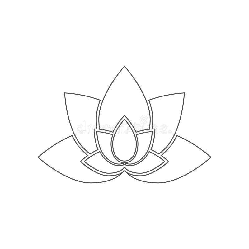 Ic?ne de Lotus ?l?ment de la Chine pour le concept et l'ic?ne mobiles d'applis de Web Contour, ligne mince ic?ne pour la concepti illustration de vecteur