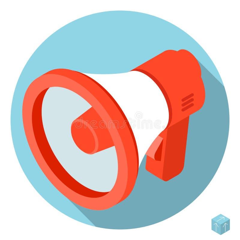 Icône de mégaphone de haut-parleur illustration de vecteur