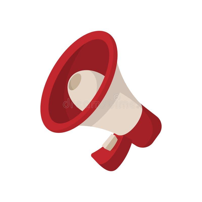 Icône de mégaphone, style de bande dessinée sur le blanc illustration stock