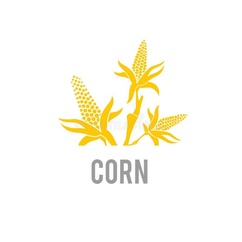 Ic?ne de ma?s Illustration de vecteur Bl? Logo Template d'agriculture illustration libre de droits