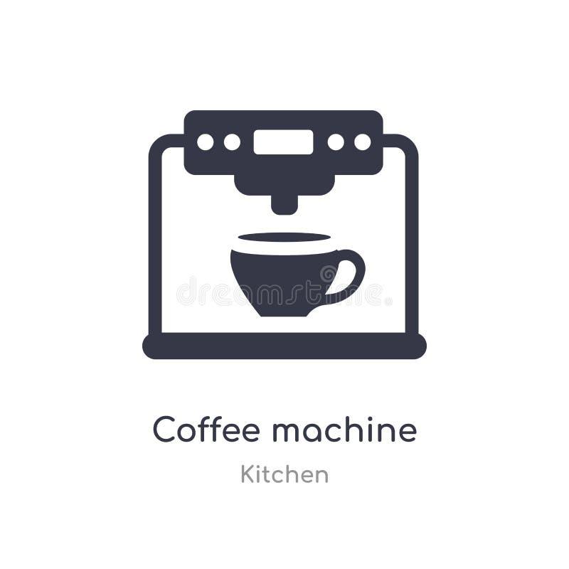 Ic?ne de machine de caf? illustration d'isolement de vecteur d'icône de machine de café de collection de cuisine editable chantez illustration de vecteur