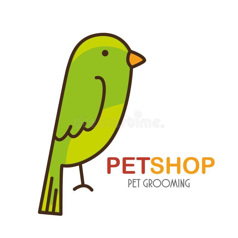 icône de magasin de bêtes de perroquet illustration stock