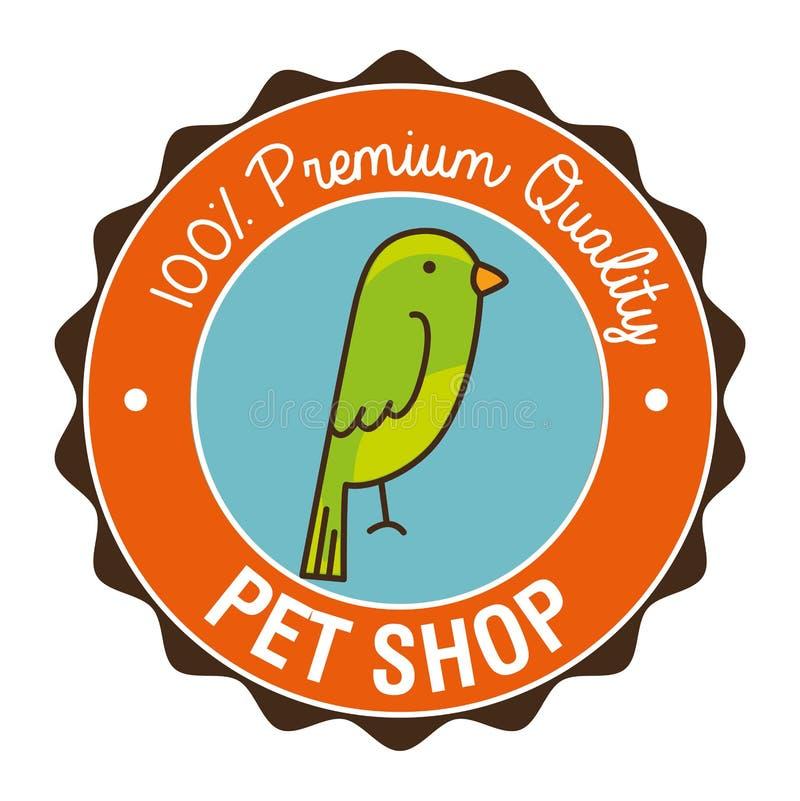 icône de magasin de bêtes de perroquet illustration de vecteur