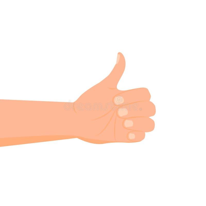 Icône de main de bande dessinée illustration de vecteur