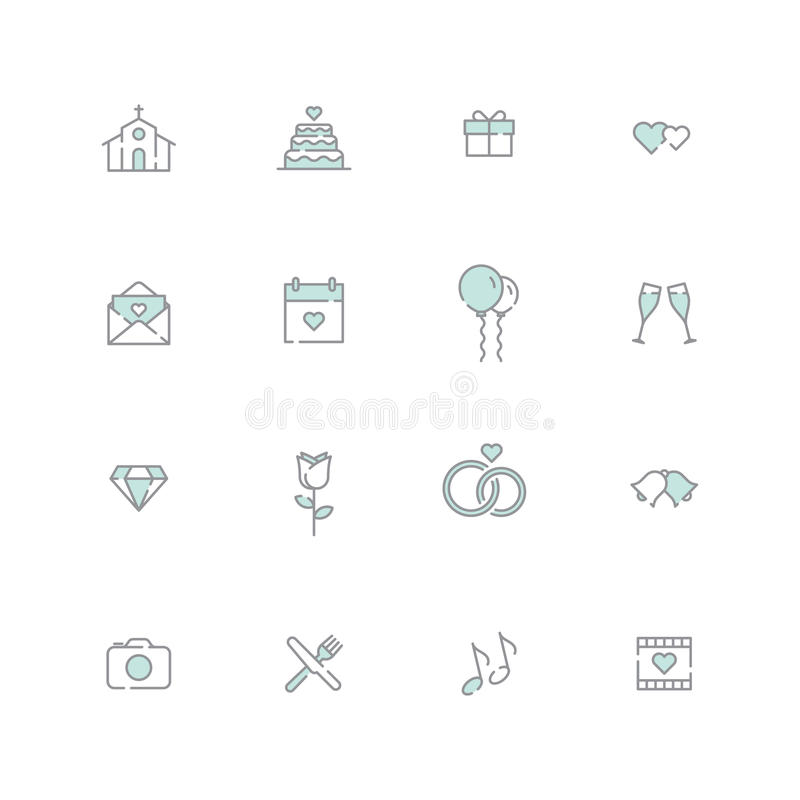 Icône de mariage illustration libre de droits