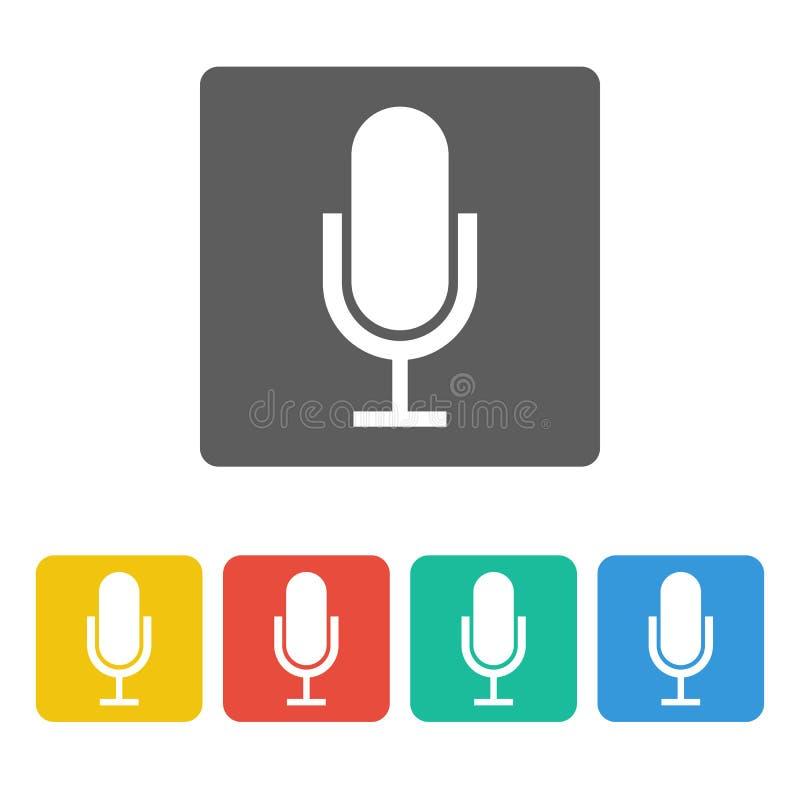 Icône de microphone illustration de vecteur