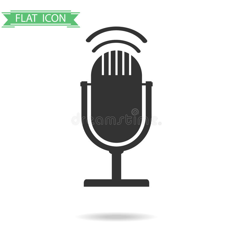 Icône de microphone illustration stock