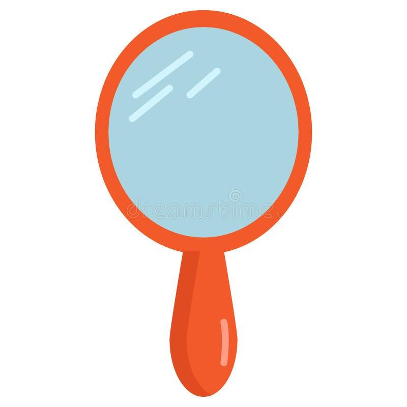Icône de miroir de main de vintage, illustration de vecteur illustration de vecteur