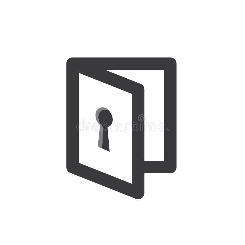 Icône de mode d'intimité avec le dispositif de sécurité illustration stock