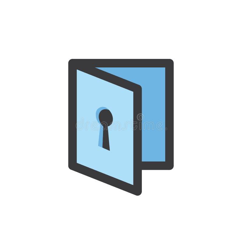 Icône de mode d'intimité avec le dispositif de sécurité illustration de vecteur