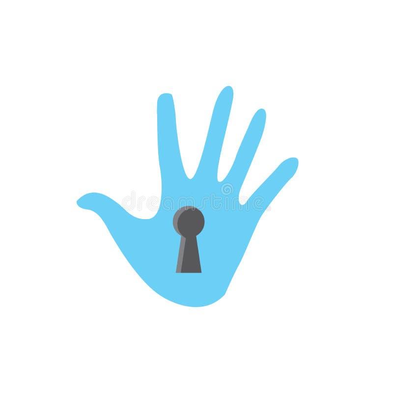 Icône de mode d'intimité avec le dispositif de sécurité illustration libre de droits