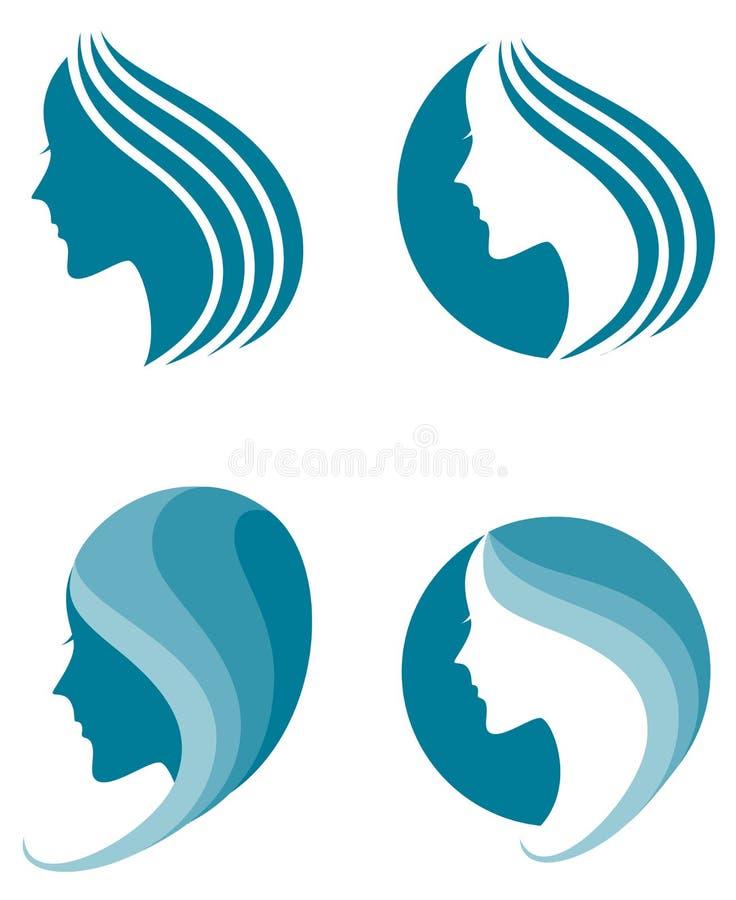 Icône de mode. symbole de beauté femelle illustration de vecteur