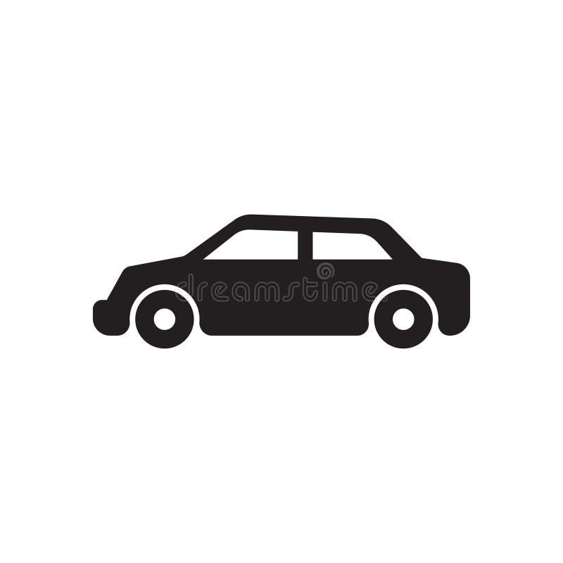 Ic?ne de monochrome de voiture vecteur noir d'icône de voiture illustration libre de droits