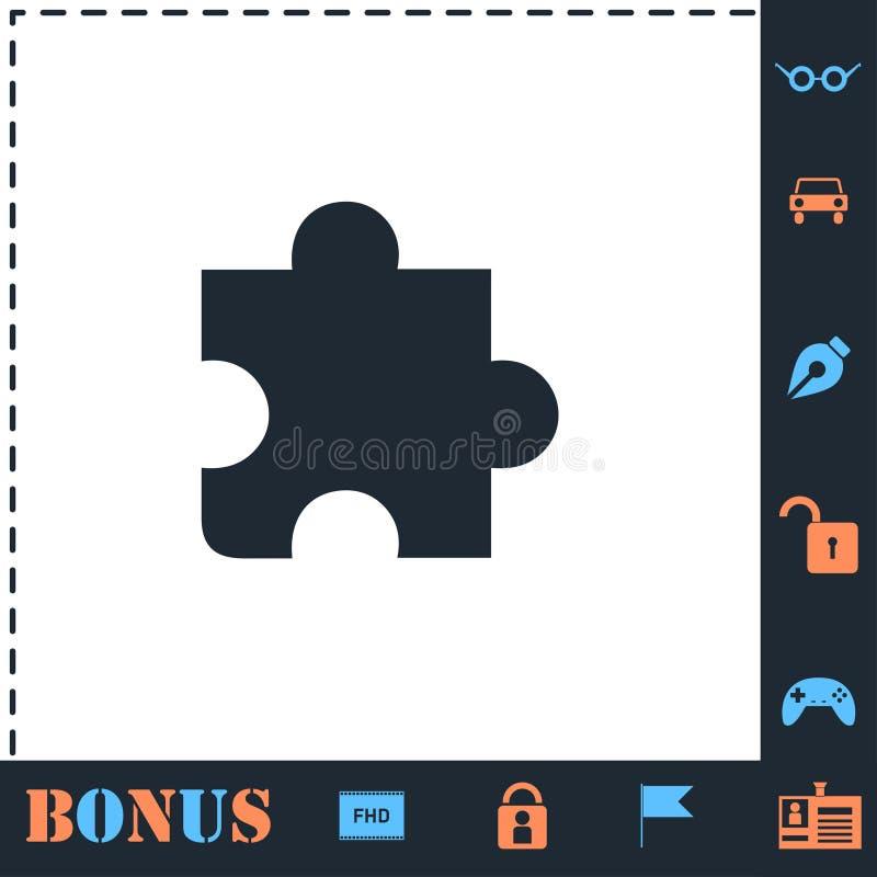 Ic?ne de morceau de puzzle ? plat illustration libre de droits