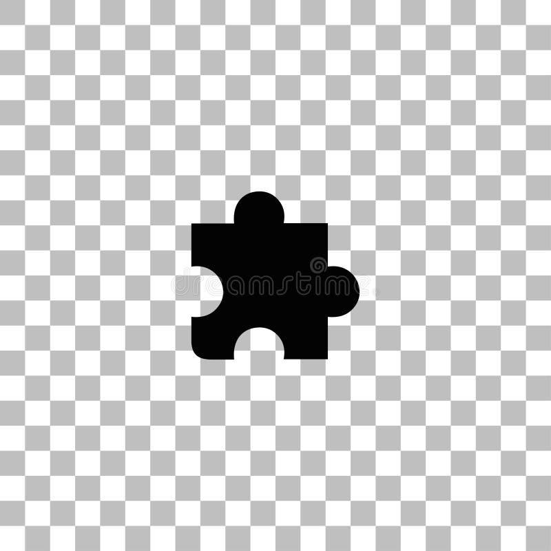 Ic?ne de morceau de puzzle ? plat illustration stock