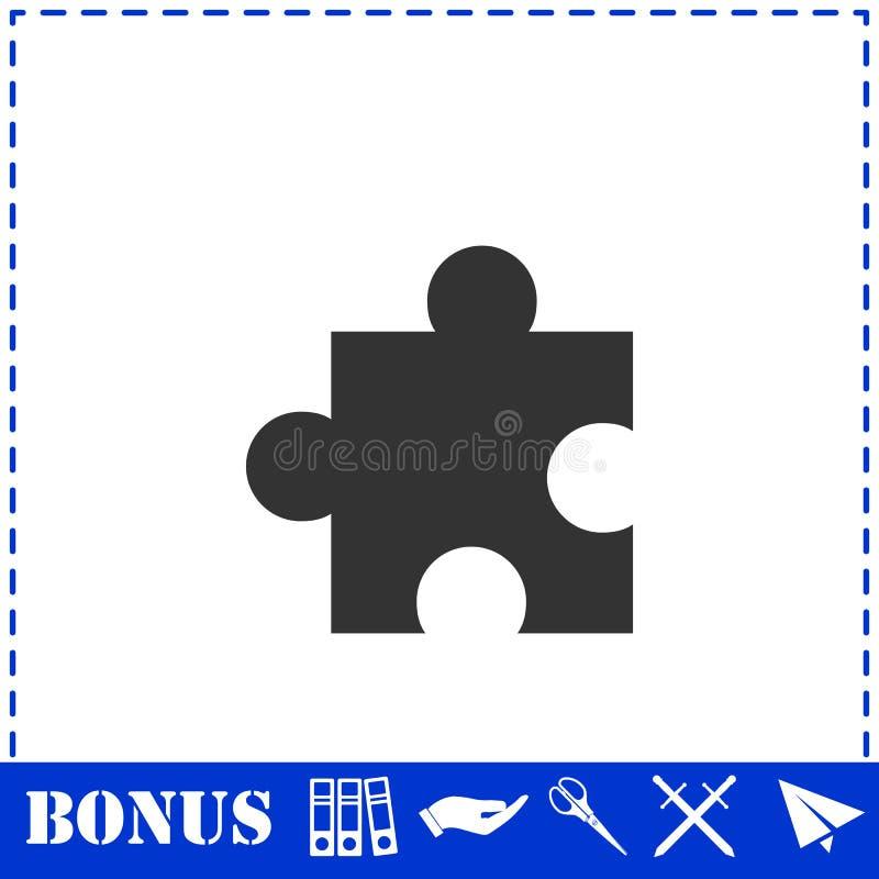 Ic?ne de morceau de puzzle ? plat illustration de vecteur