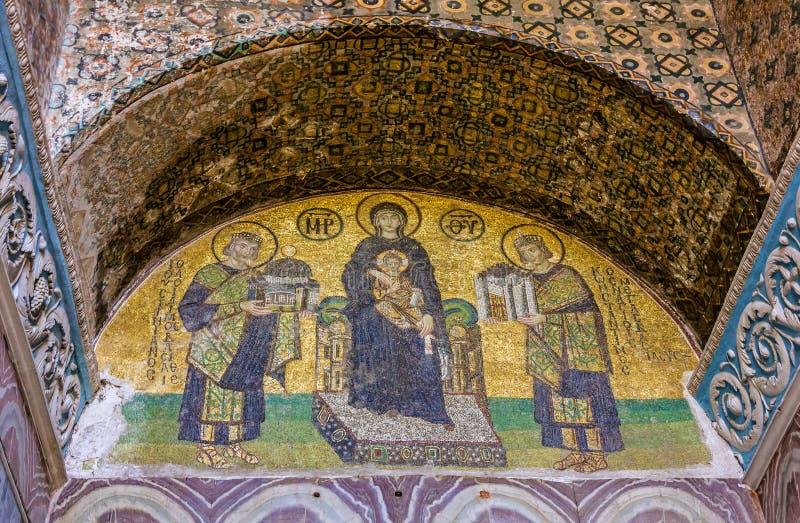 Icône de mosaïque dans Hagia Sophia, Istanbul, Turquie Vierge Marie et S photos stock