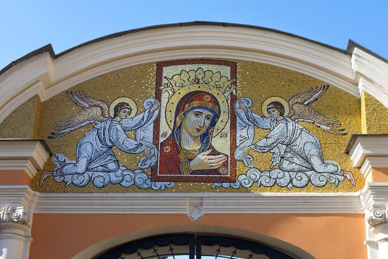 Icône de mosaïque de la mère de Dieu images libres de droits