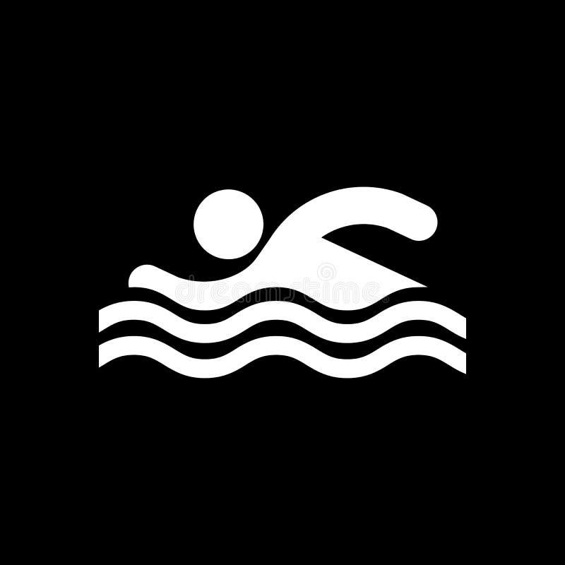 Icône de nageur Plage et illustration de vecteur d'icône de vacances illustration de vecteur