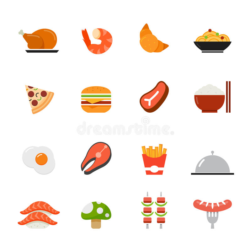 Icône de nourriture. Conception plate de pleines couleurs. illustration libre de droits