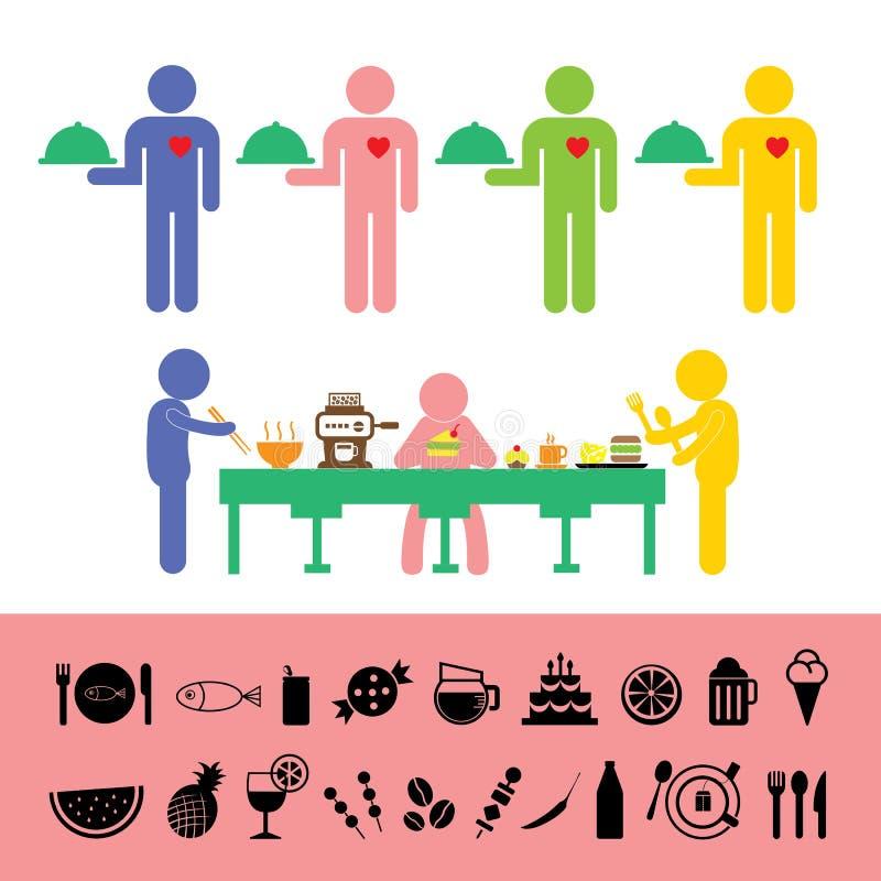 Icône de nourriture et de boissons illustration libre de droits