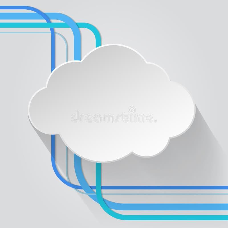 Icône de nuage avec le fil illustration stock