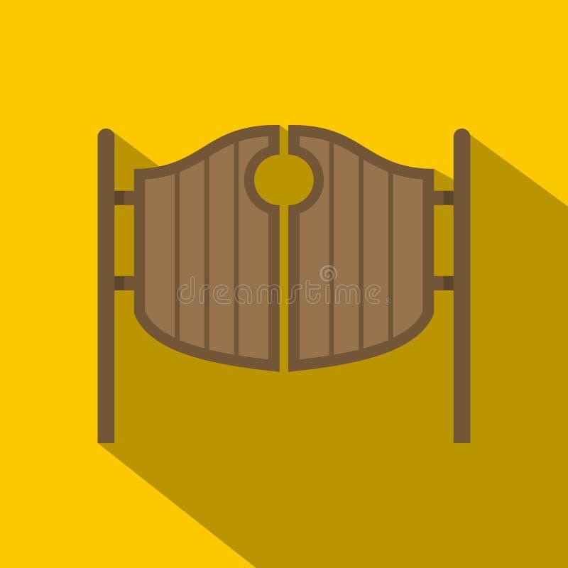 Icône de oscillation occidentale de portes de salle de vintage illustration libre de droits