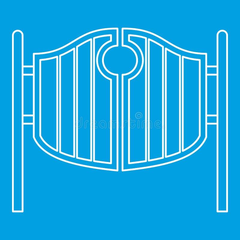 Icône de oscillation occidentale de portes de salle de vintage illustration de vecteur