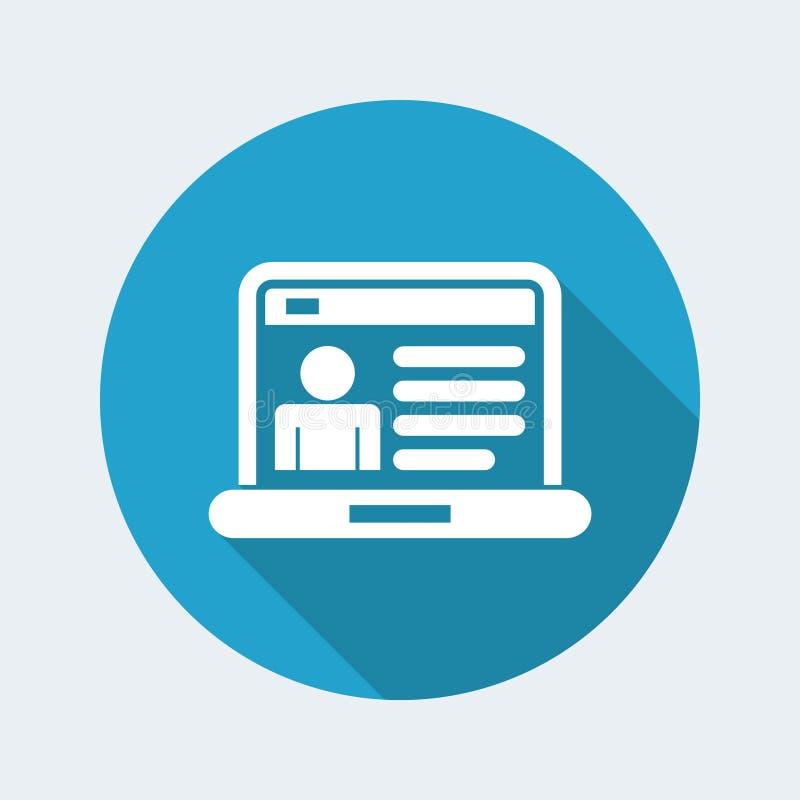 Icône de page de profil de Web illustration de vecteur