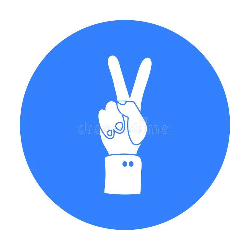 Icône de paix dans le style noir d'isolement sur le fond blanc Illustration de vecteur d'actions de symbole de jour de patriote illustration de vecteur