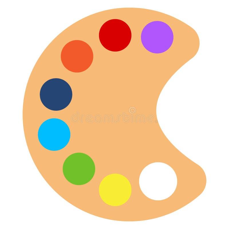 Icône de pallette de peinture d'art, illustration de vecteur illustration libre de droits