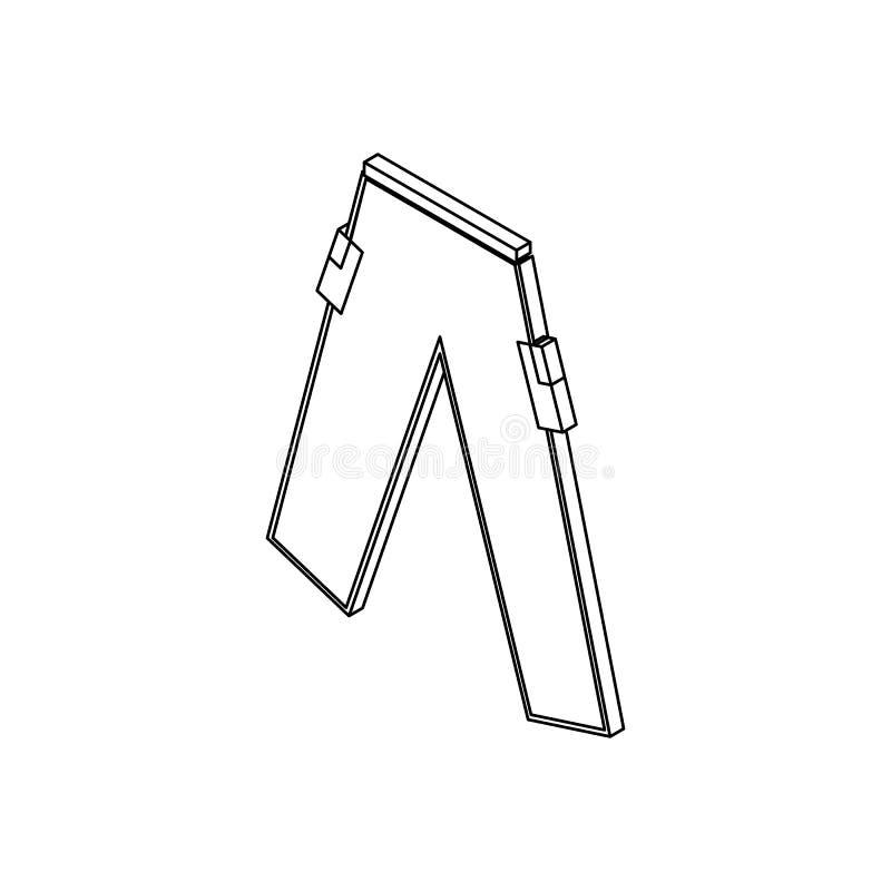 Icône de pantalons de Paintball, style 3d isométrique illustration stock