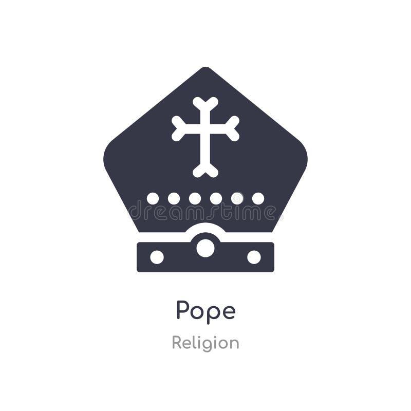 Ic?ne de pape illustration d'isolement de vecteur d'icône de pape de collection de religion editable chantez le symbole peut ?tre illustration libre de droits
