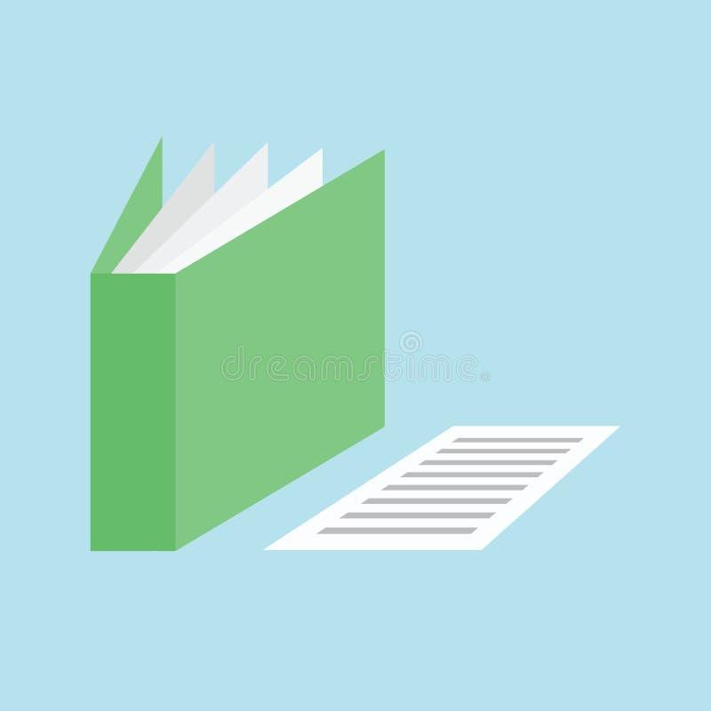Icône de papier de document de dossier illustration stock