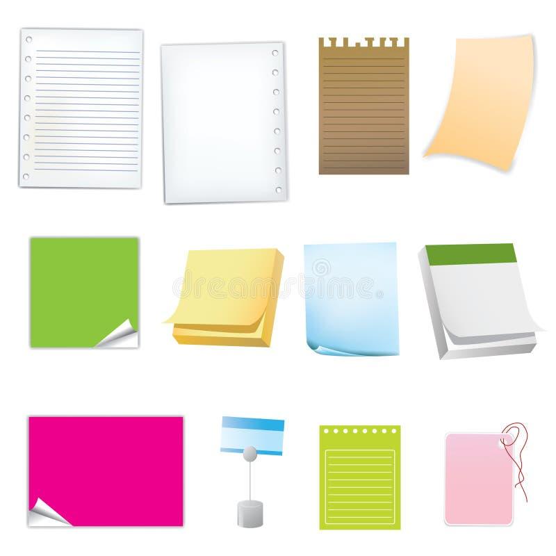 Icône de papier différente illustration libre de droits