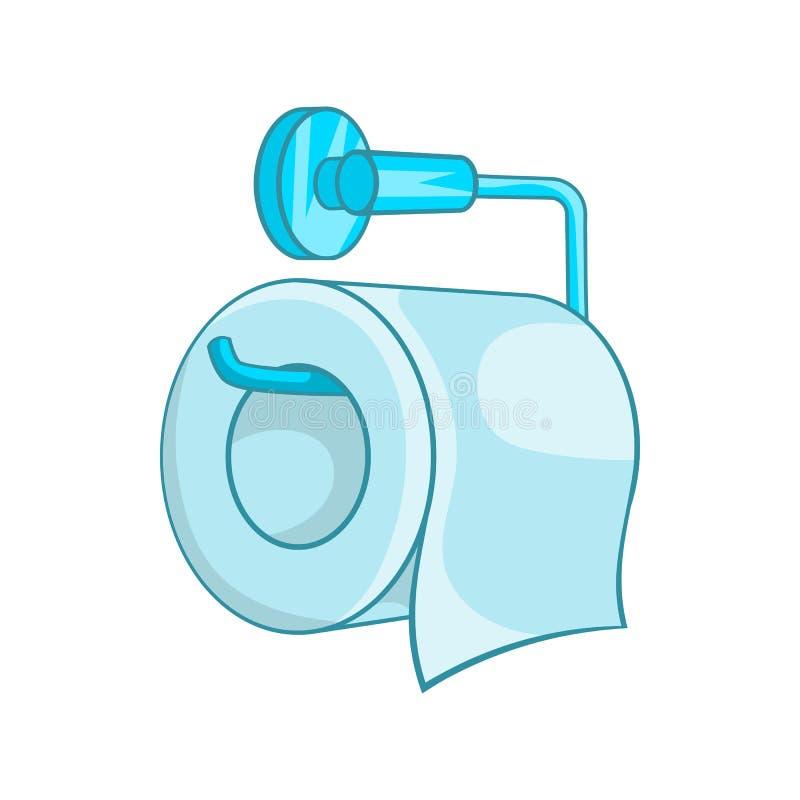 Icône de papier hygiénique dans le style de bande dessinée illustration de vecteur