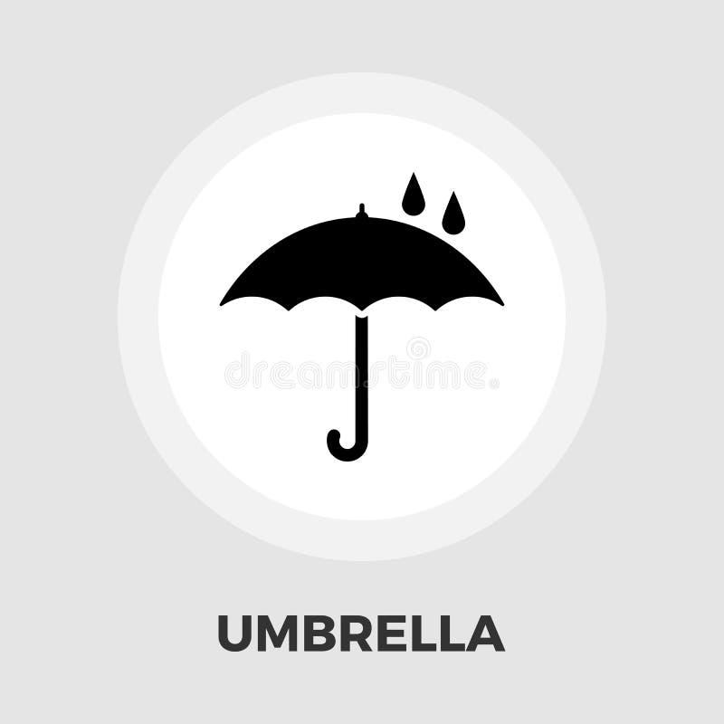 Icône de parapluie plate illustration de vecteur