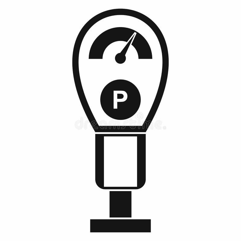 Icône de parcomètres, style simple illustration stock