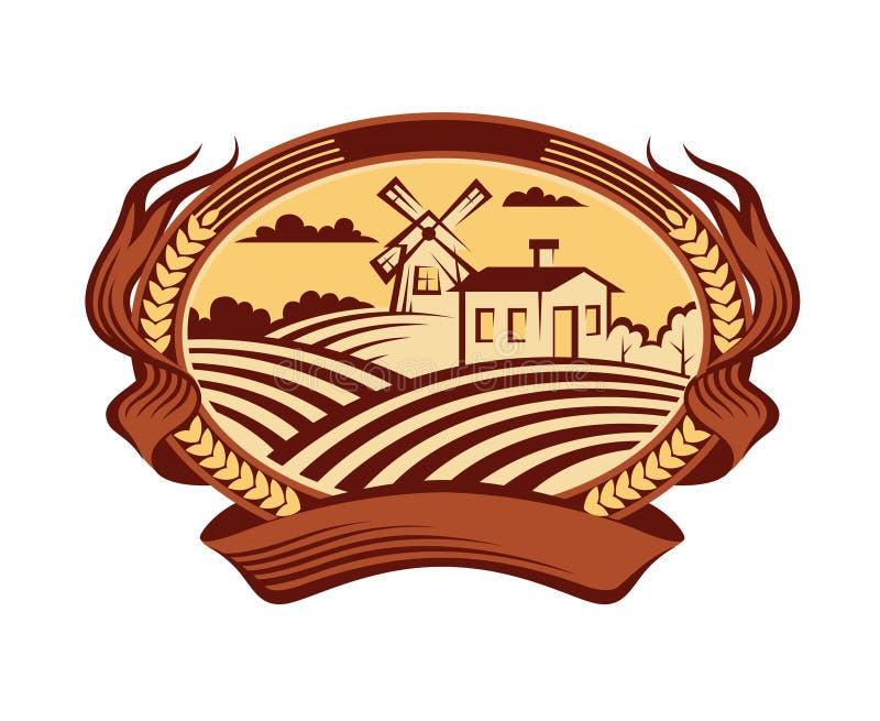 Icône de paysage d'agriculture illustration libre de droits