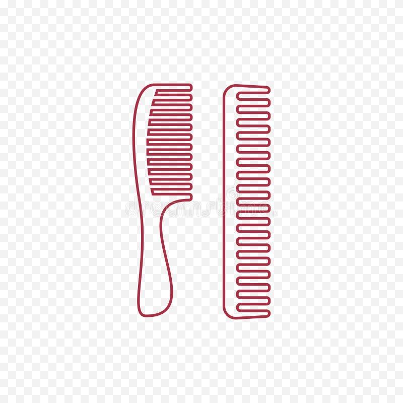 icône de peigne de cheveux Le dispositif pour peigner des cheveux rayent légèrement l'icône illustration libre de droits
