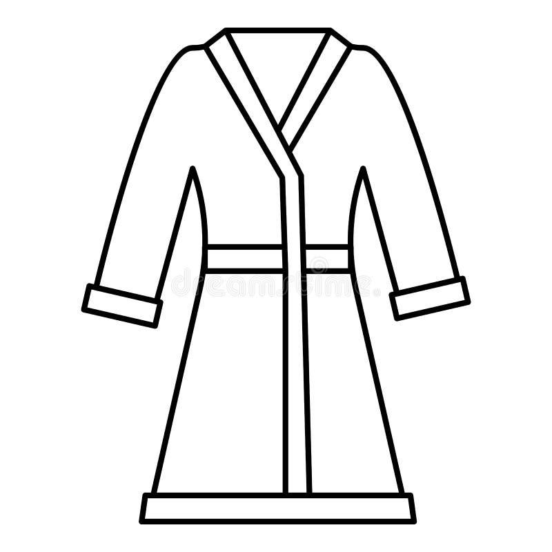 Icône de peignoir, style d'ensemble illustration stock