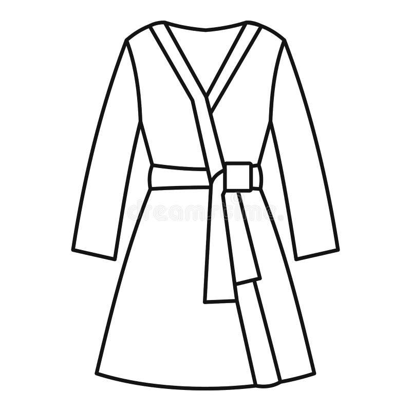Icône de peignoir, style d'ensemble illustration de vecteur