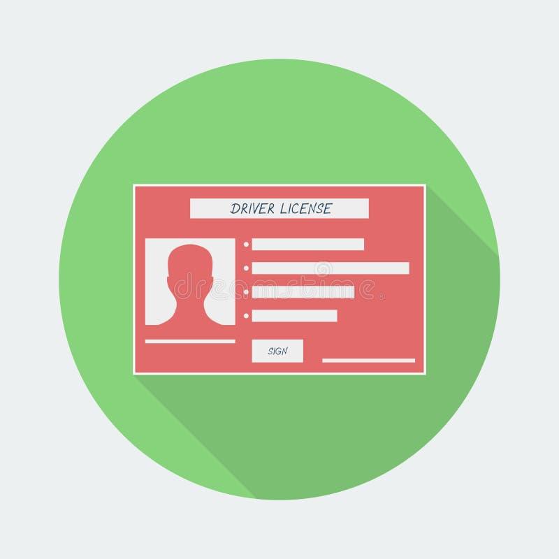 Icône de permis de conduire avec l'ombre illustration libre de droits