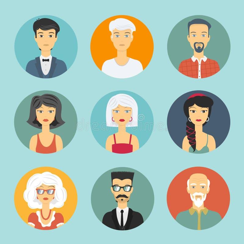 Icône de personnes d'avatar illustration de vecteur
