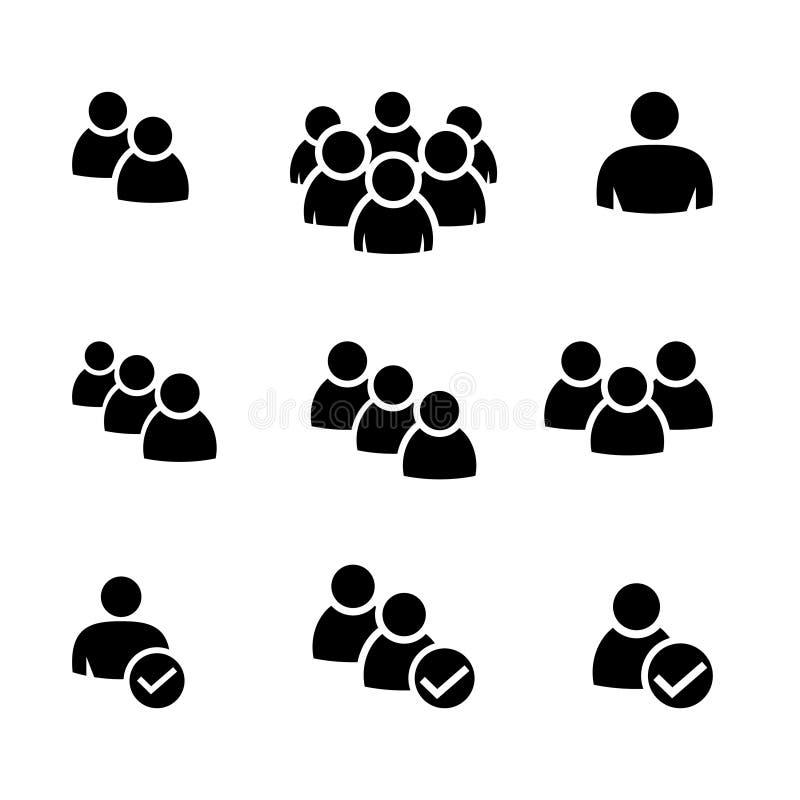 Icône de personnes - illustration de vecteur illustration libre de droits