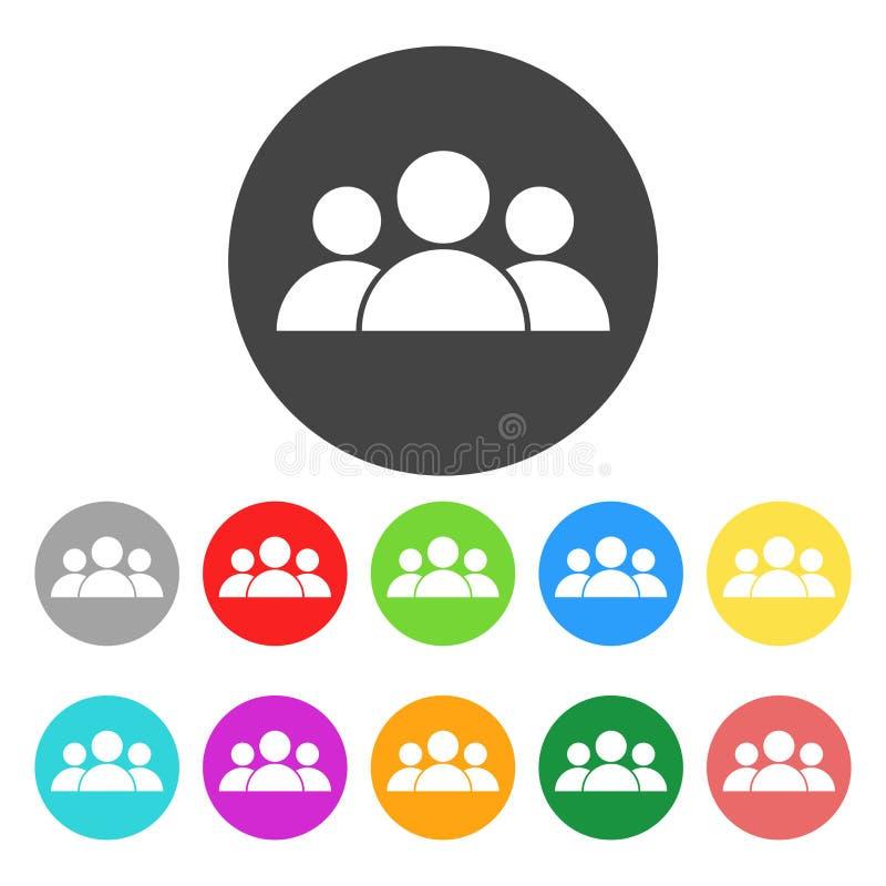 Icône de personnes Illustration plate de vecteur de couleur illustration libre de droits
