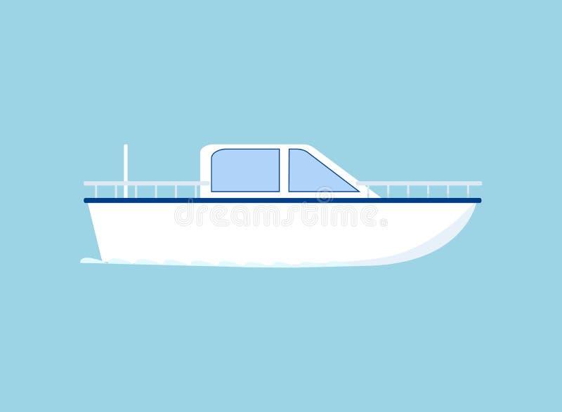 Ic?ne de petit bateau illustration libre de droits
