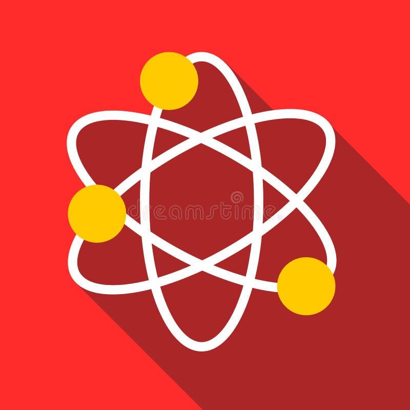 Icône de physique, style plat illustration libre de droits