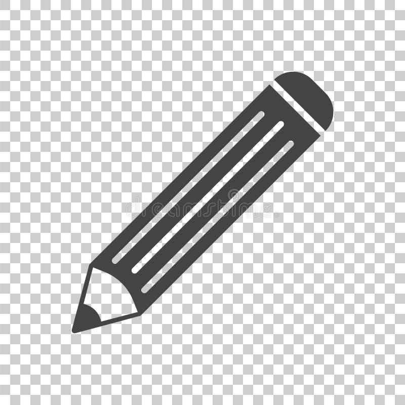 Icône de pictogramme de crayon Illustration plate simple pour les affaires, mA illustration de vecteur