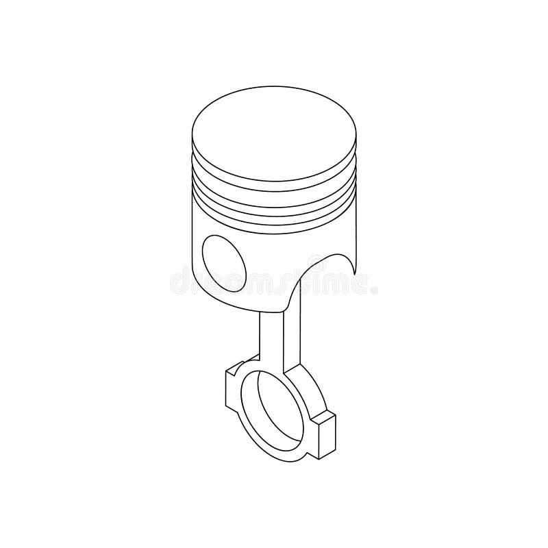 Icône de piston, style 3d isométrique illustration libre de droits